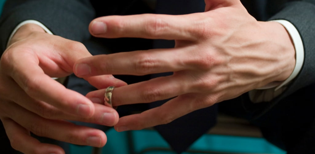 Hands with Wedding Band